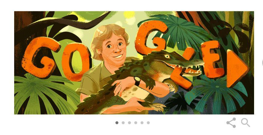 Google почита ловеца на крокодили Стив Ъруин