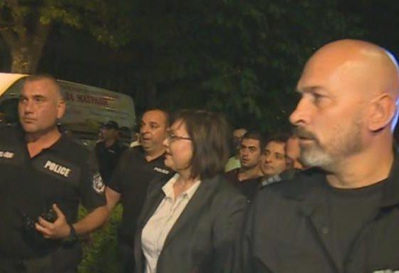 Нинова бе освиркана от протестиращите