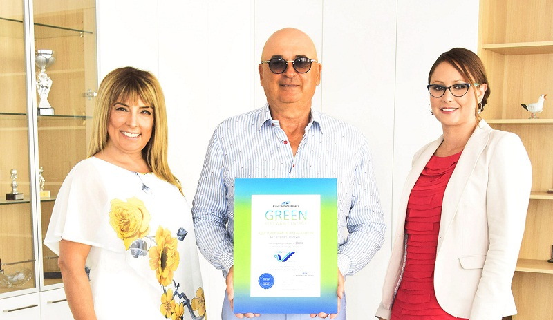 Варненската фабрика Чайка АД получи сертификат за зелена енергия от ЕНЕРГО-ПРО Енергийни услуги