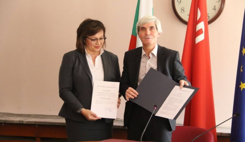 Централната комисия връчи на Корнелия Нинова Удостоверение за избран председател